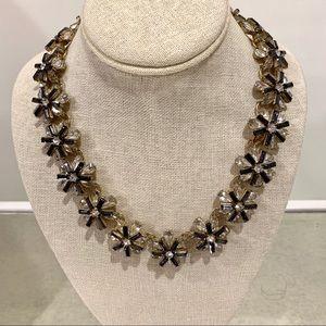 LOFT Sparkly Flower Necklace